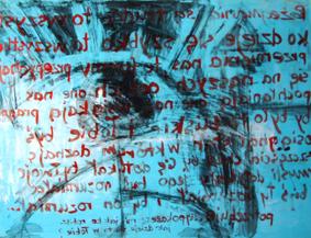 BEZ TYTUŁU, 100 x 140, akryl na pleksi, 2006