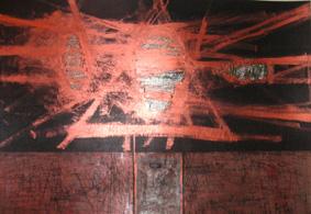 MISTIC, 100 x 200, akryl na pleksi, 2007