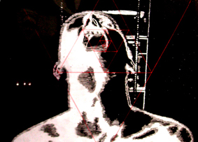 DYSONANS III, 100 x 140, akryl na pleksi, 2007