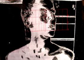 DYSONANS II, 100 x 140, akryl na pleksi, 2007