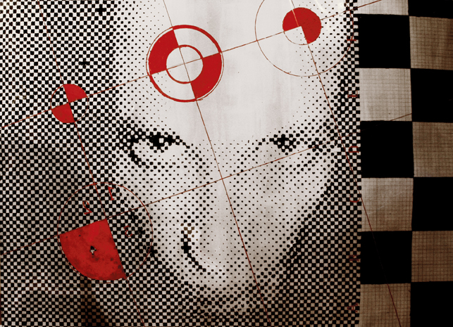 DYSONANS IV, 100 x 140, akryl na pleksi, 2007