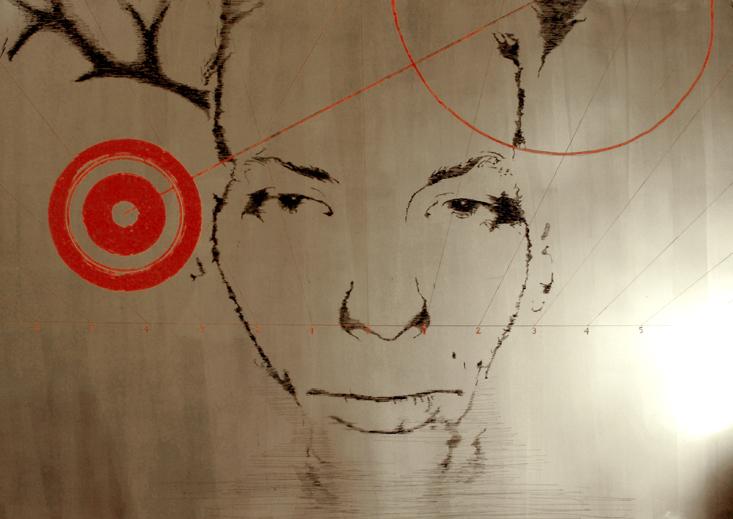 DYSONANS V, 100 x 140, akryl na pleksi, 2007