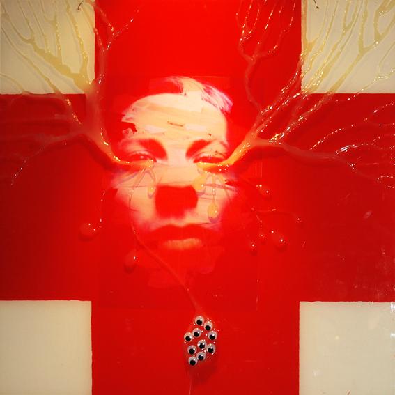 FANTAZMATY I FETYSZE, 50 x 50, akryl, pleksi, foto, 2009