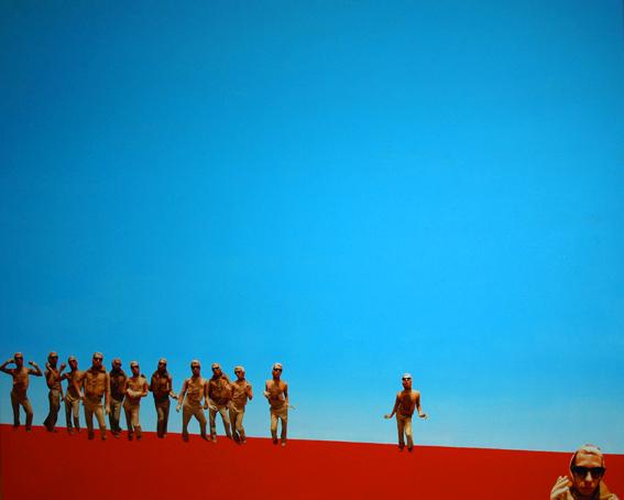 SÉDUIT, 80 x 100, toile, acrylique, photo, 2009