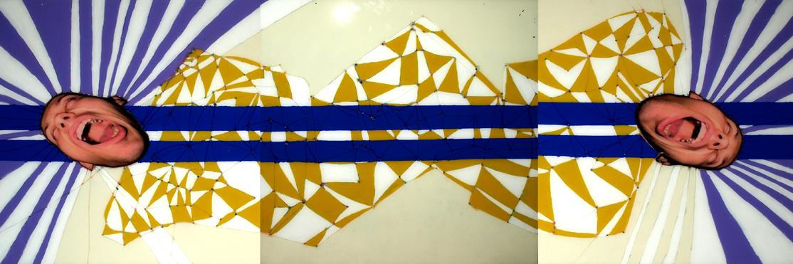UWIEDZIONY, 100 x 300, akryl, pleksi, foto, 2009