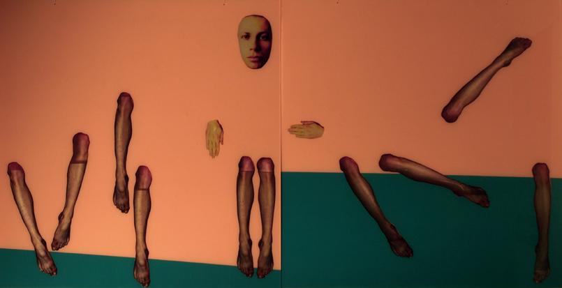 UWIEDZIONY, 100 x 200, akryl, pleksi, foto, 2009