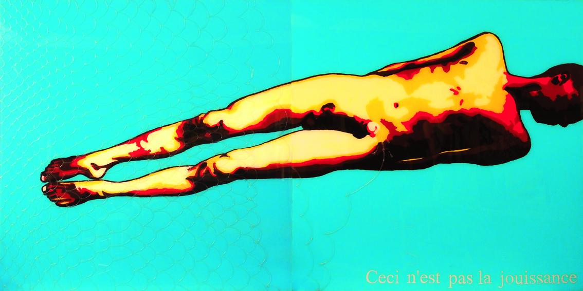CECI N'EST PAS LA JOUISSANCE, 100 x 200, acrylique sur plexiglas, 2010