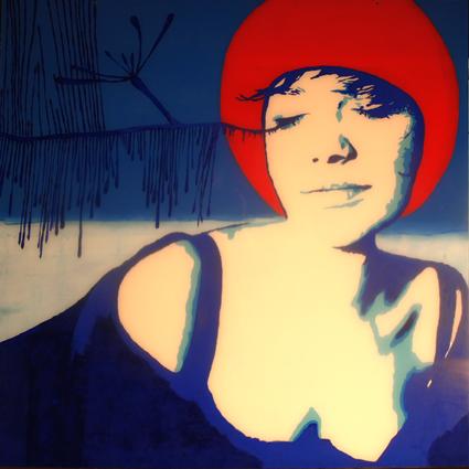 FABRYKA PORTRETU - Angelika Lebiecka, 100 x 100, akryl na pleksi, 2011