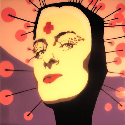 PORTRAIT FACTORY - Aniela Pilawska, 100 x 100, acrylique sur plexiglas, 2011
