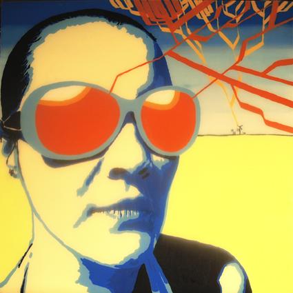 FABRYKA PORTRETU - Dana Bień, 100 x 100, akryl na pleksi, 2011