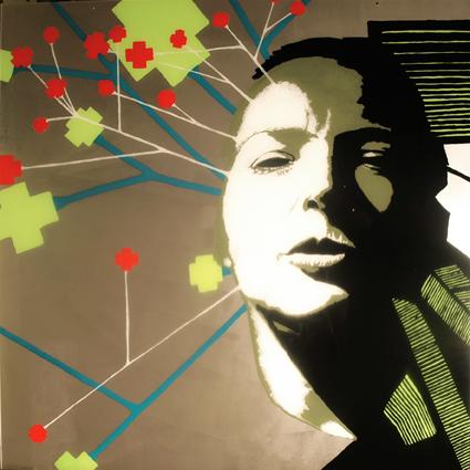 FABRYKA PORTRETU - Ela Schonefeld, 100 x 100, akryl na pleksi, 2011