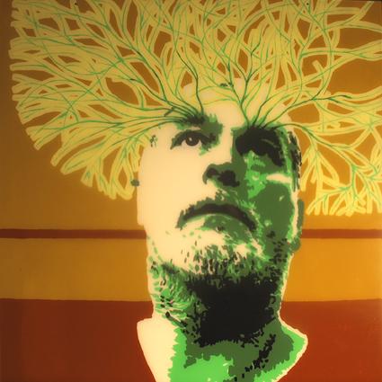 FABRYKA PORTRETU - Henryk Pasiut, 100 x 100, akryl na pleksi, 2011