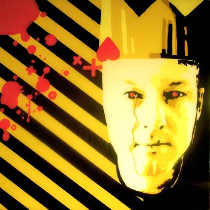 FABRYKA PORTRETU - Paweł Paczkowski, 100 x 100, akryl na pleksi, 2011