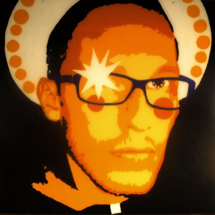 FABRYKA PORTRETU - Tomasz Kireńczuk, 100 x 100, akryl na pleksi, 2011