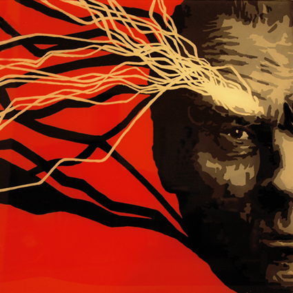 PORTRAIT FACTORY - Czesław Miłosz, 50 x 50, acrylique sur plexiglas, 2011