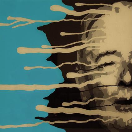 FABRYKA PORTRETU - Witold Gombrowicz, 50 x 50, akryl na pleksi, 2011