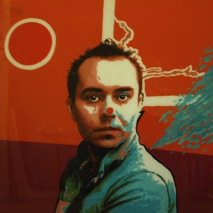 FABRYKA PORTRETU - Marcin Wiczkowski, 100 x 100, akryl na pleksi, 2012
