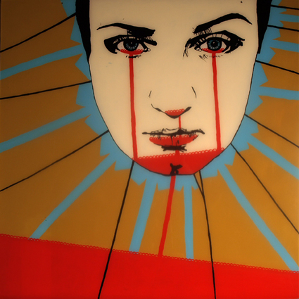 FABRYKA PORTRETU - Monika Winiarska, 100 x 100, akryl na pleksi, 2011