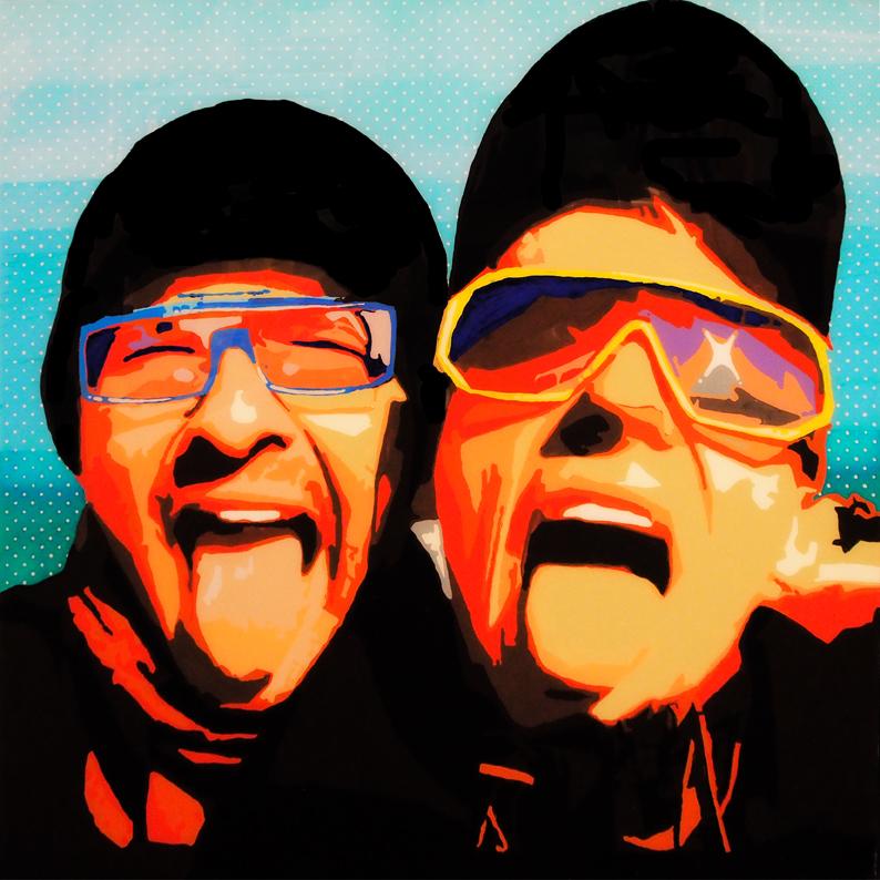 FABRYKA PORTRETU - Sewer Szymon & Prince Negatif, 100 x 100, akryl na pleksi, 2013