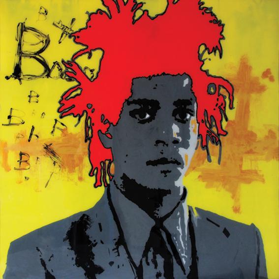 FABRYKA PORTRETU - Basquiat, 100 x 100, akryl na pleksi, 2013