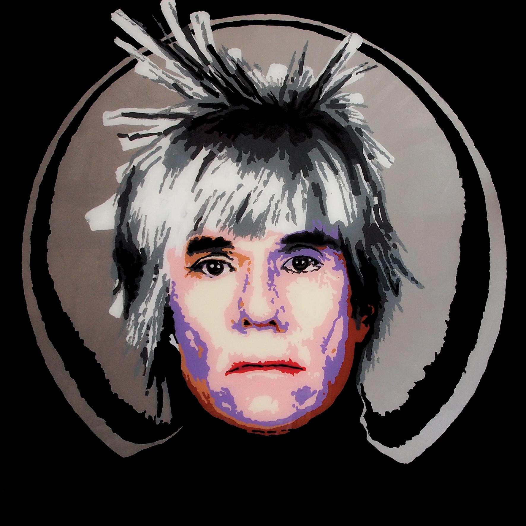 FABRYKA PORTRETU - Warhol, 100 x 100, akryl na pleksi, 2013