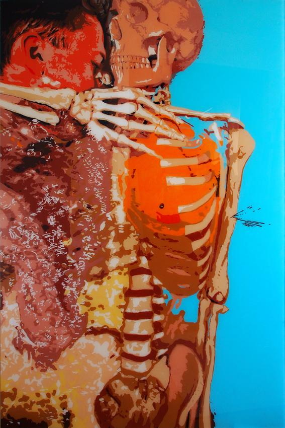 NATURE MORTE, 150 x 100, acrylique sur plexiglas, 2013