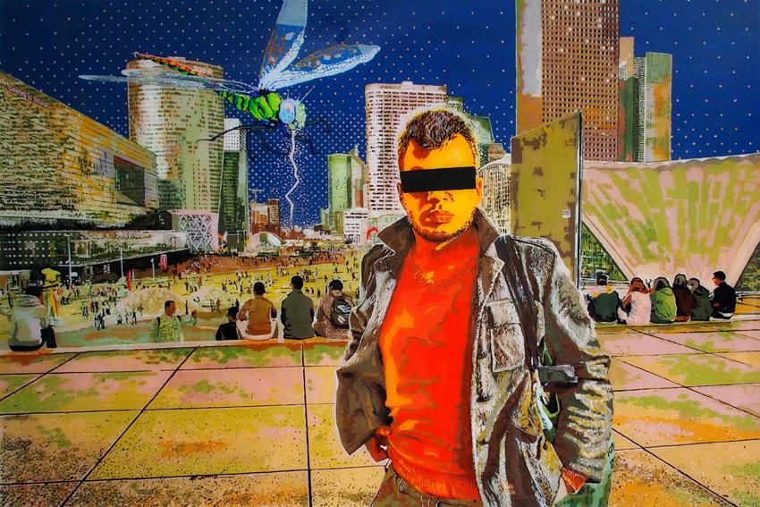 DZIWNY OGRÓD, 100 x 150, akryl na pleksi, 2014