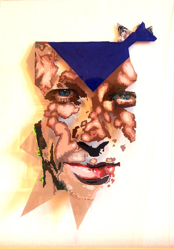 A PROPOS DE LA DISPARITION, 50 x 35, acrylique sur plexiglas, 2014
