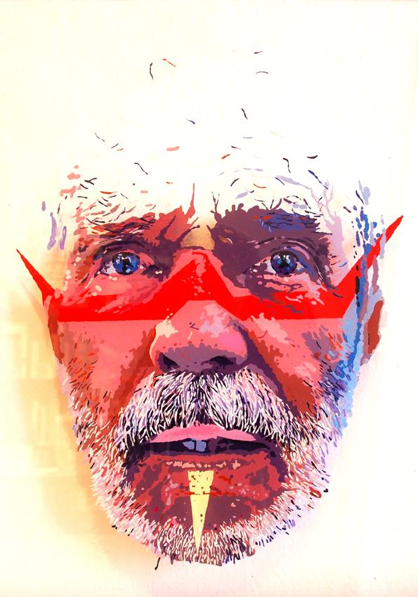 O ZNIKANIU, 50 x 35, akryl na pleksi, 2014