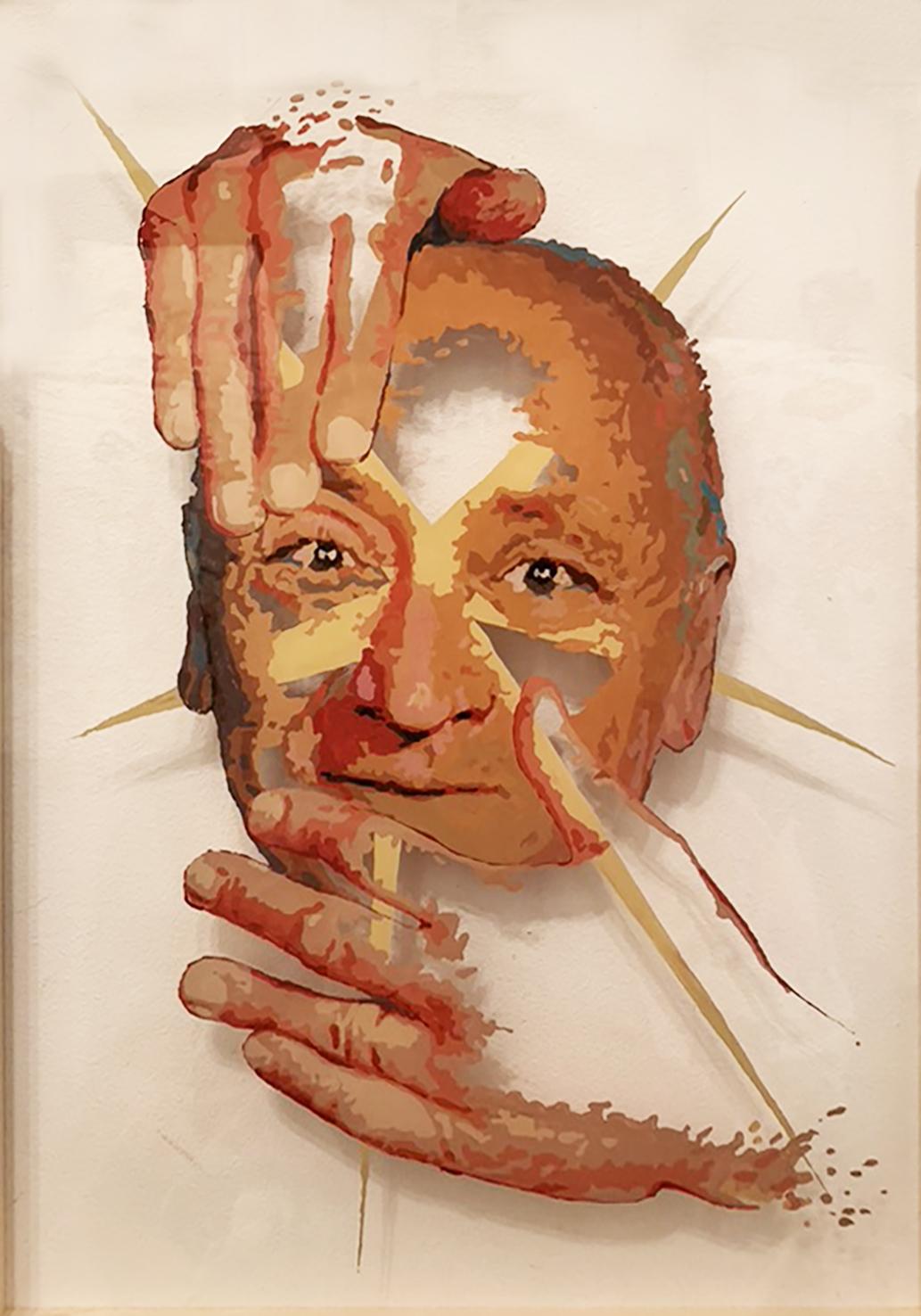 O ZNIKANIU | Bogdan Hussakowski, 50 x 35, akryl na pleksi, 2021